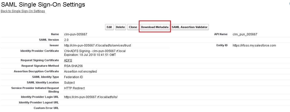 Configuring Single Sign-On using ADFS 3 0 - Documentation