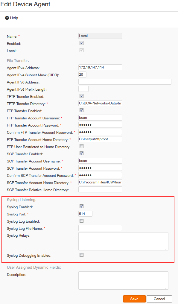 Configuring existing syslog servers to forward events