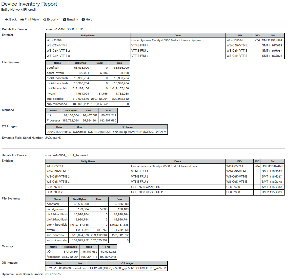 Managing detailed hardware inventory - Documentation for BMC