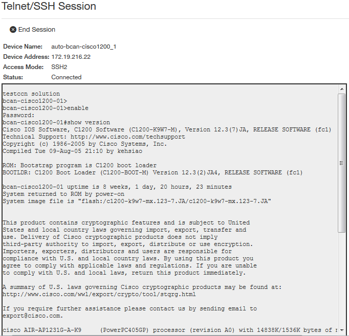 Working in a Telnet or SSH session - Documentation for BMC