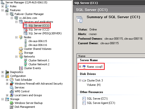 Configuring MS SQL Server cluster environment - Documentation for