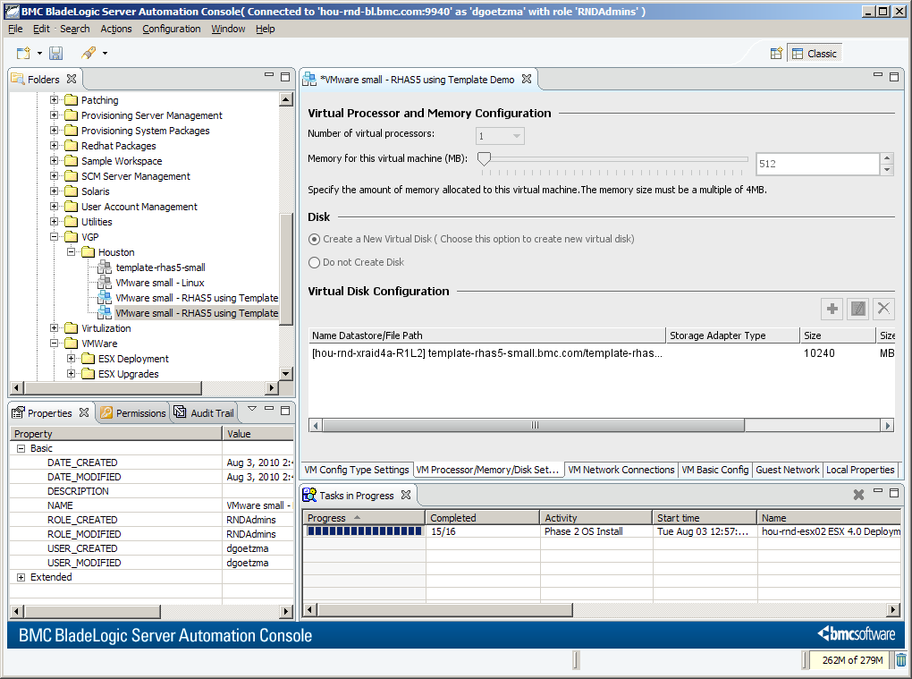 Example: Creating a VMware Virtual Guest Package