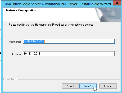 Installing the PXE server on Windows - Documentation for BMC