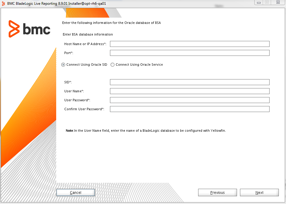 Installing and configuring Yellowfin to enable Live