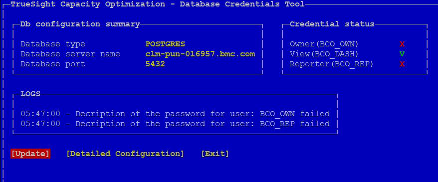 Validating the database connection for database users