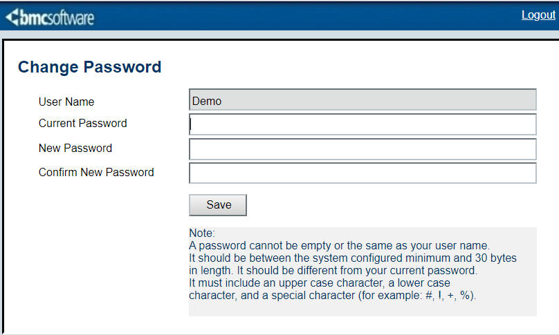 Enabling users to change their passwords at will