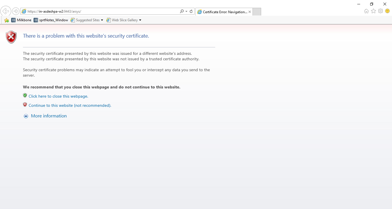 Configuring the Mid Tier web server for SSL certificate