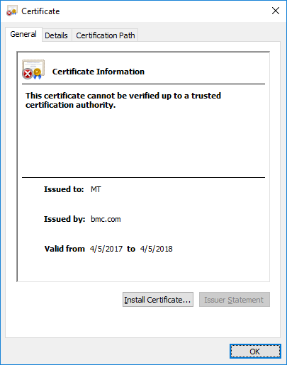 Configuring the Mid Tier web server for SSL certificate ...