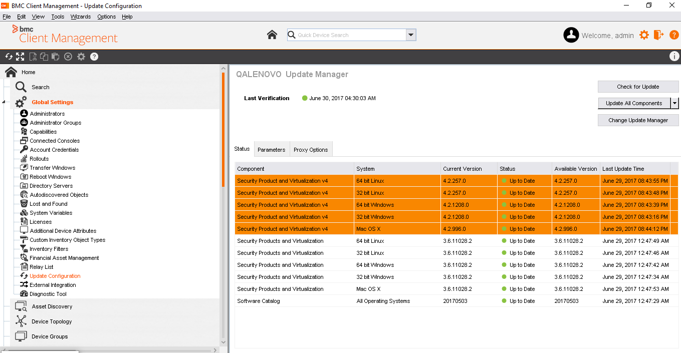 Updates to Security Products Inventory and Virtual