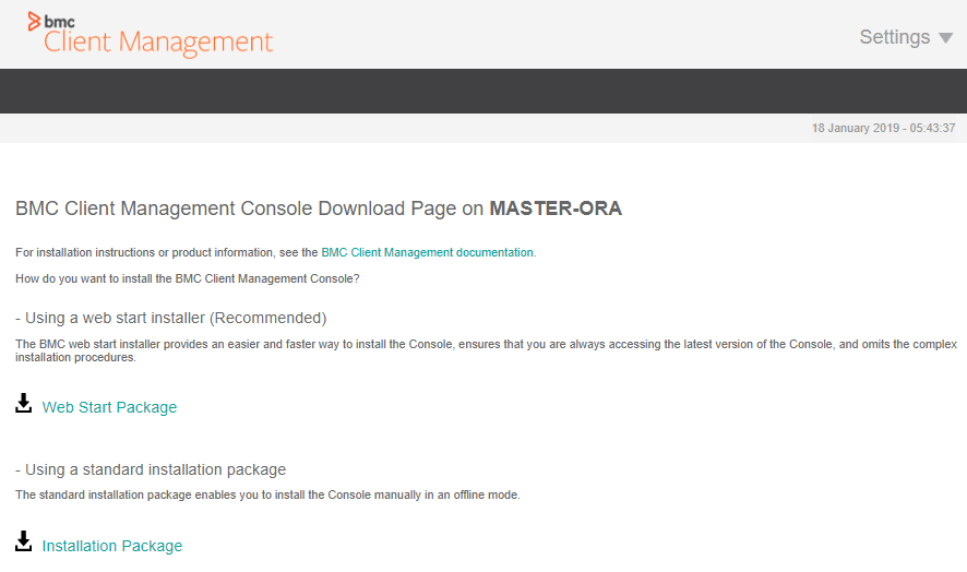 Downloading and installing the BMC Helix Client Management