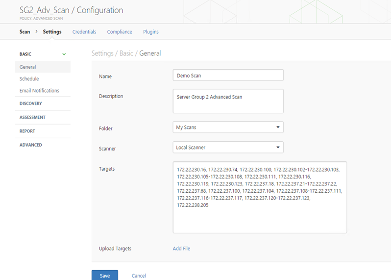 Creating and importing a Nessus scan file - Documentation for BMC