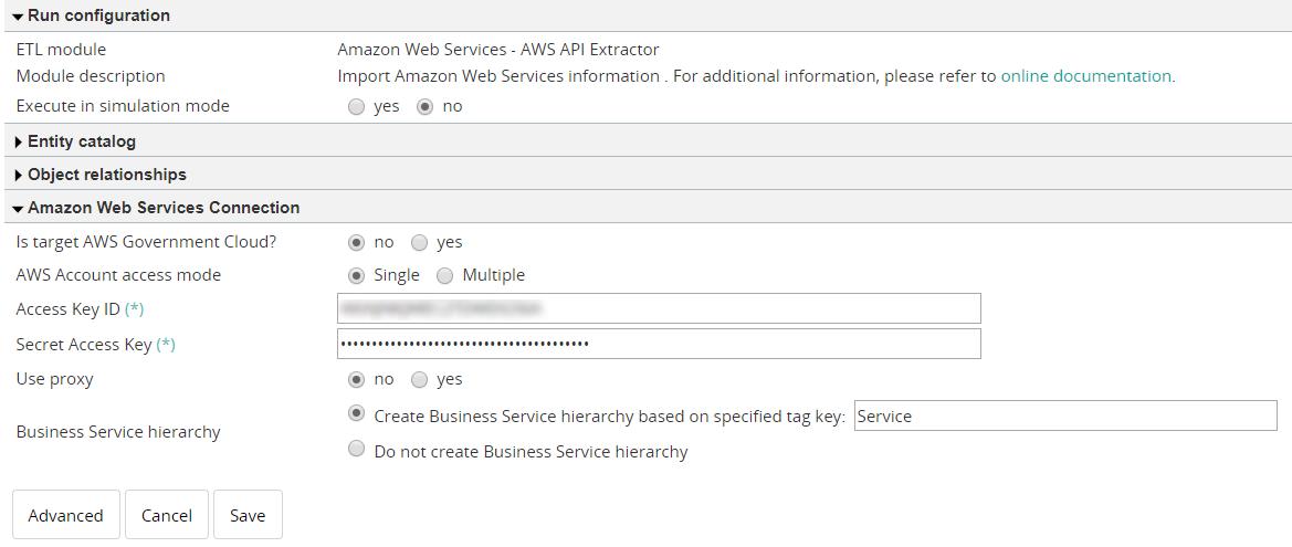 Amazon Web Services - AWS API Extractor - Documentation for