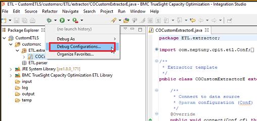 Debugging a custom parser or extractor module