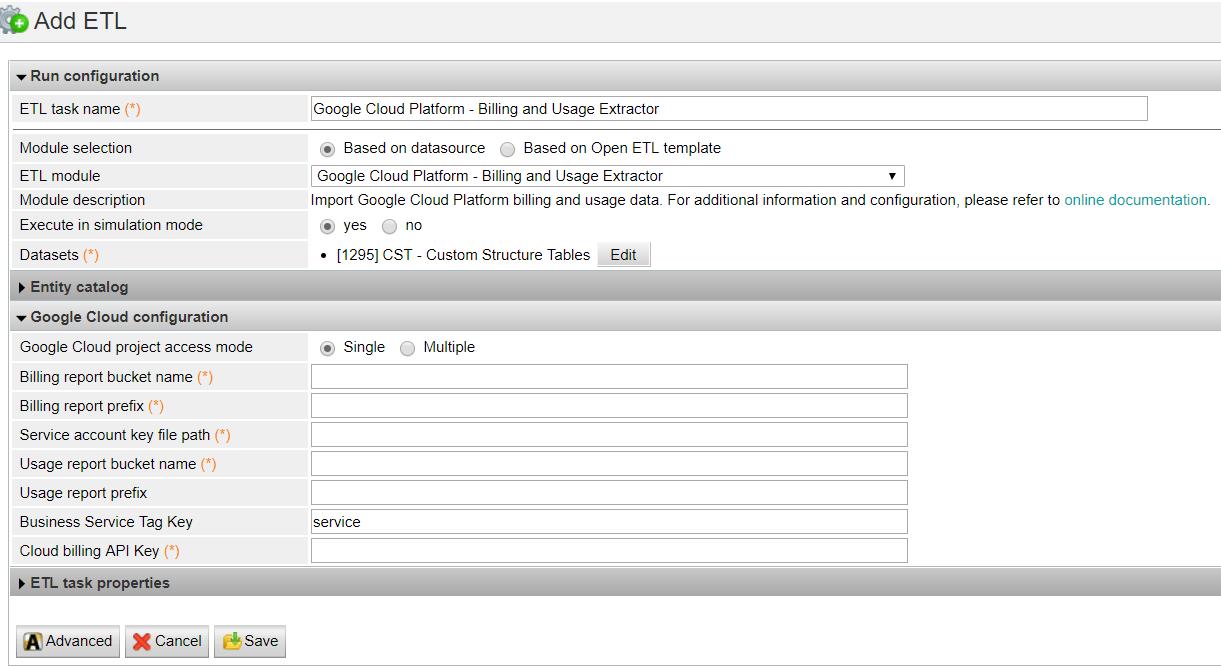 Google Cloud Platform - Billing and Usage Extractor - Documentation