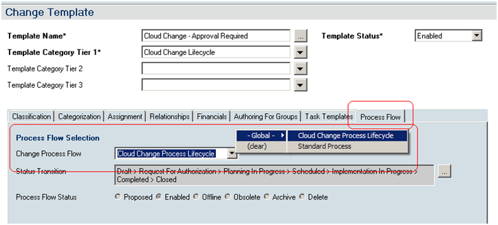 Verifying and updating the integration for the provider company for more information about using the process flow tab see the associating custom process flows to a change template topic in the bmc change management pronofoot35fo Choice Image