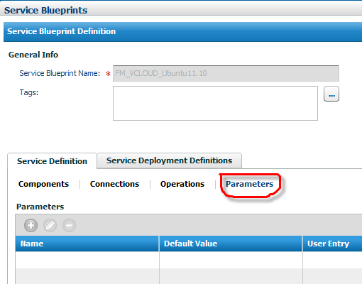 Using service blueprints in a vcloud context documentation for bmc not supported you cannot add parameters malvernweather Gallery