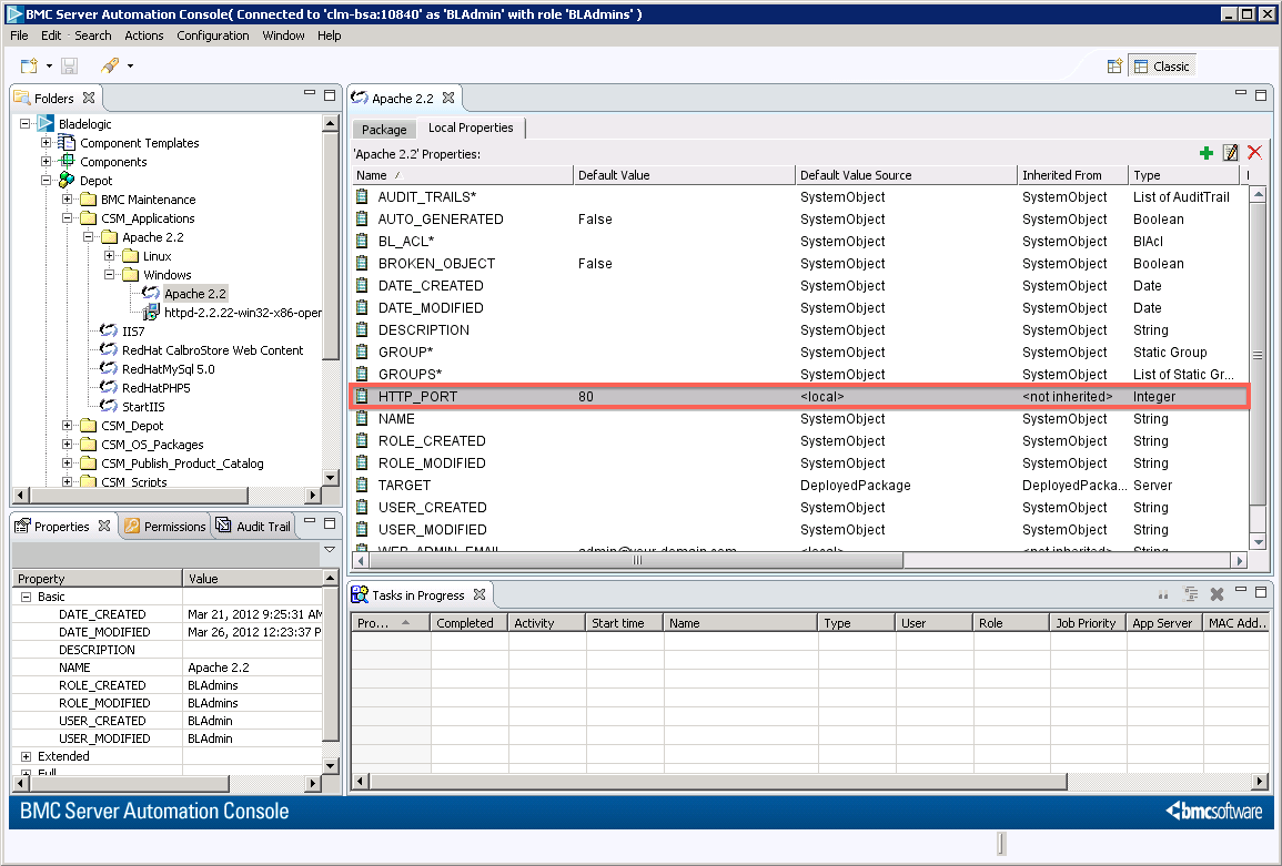 Creating a bmc server automation deploy job or an application for example you can add a local property called httpport that you will use with a service blueprint malvernweather Gallery
