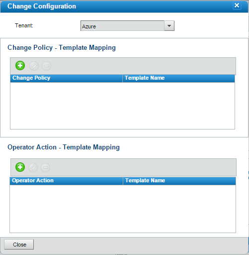Managing change policy mappings for particular tenants ...