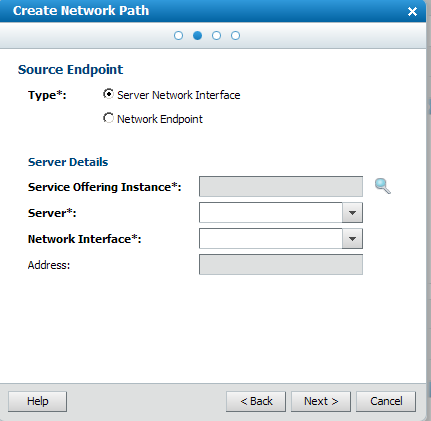 Creating network paths documentation for bmc cloud lifecycle accept the server network interface default selection in the endpoint dialog in this example it is the source endpoint dialog malvernweather Images