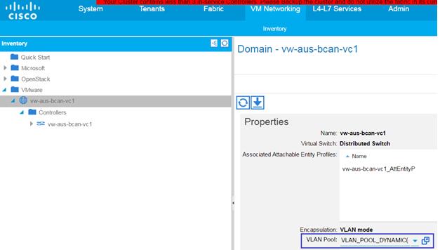 Configuring Cisco ACI - Documentation for BMC Cloud