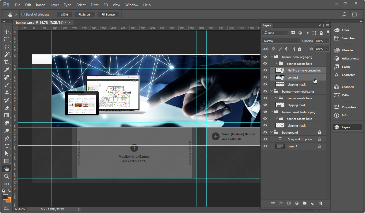 Creating banner images using a template - Documentation for BMC With Regard To Banner Template For Photoshop