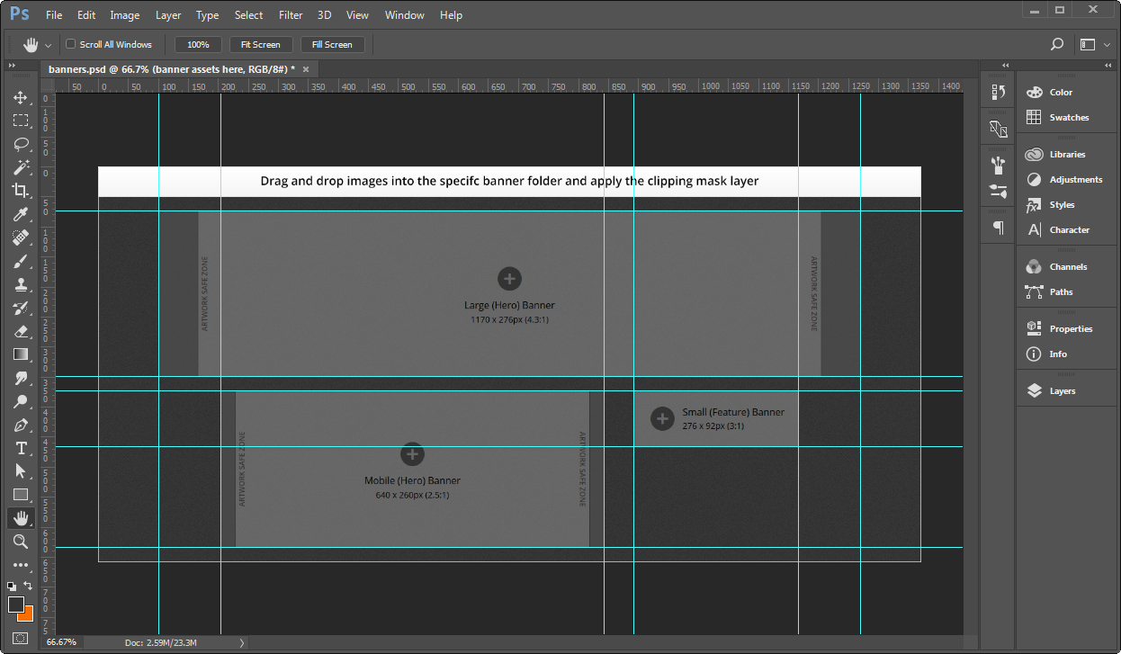 Creating banner images using a template documentation for bmc open the psd file in adobe photoshop maxwellsz