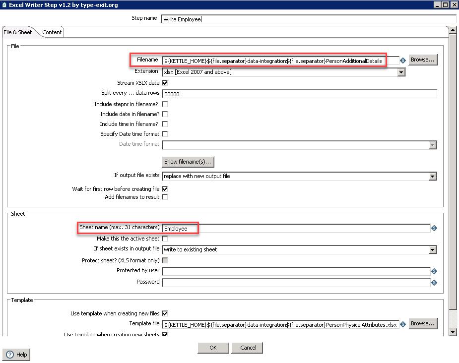 Creating a Pentaho job to load custom Foundation data