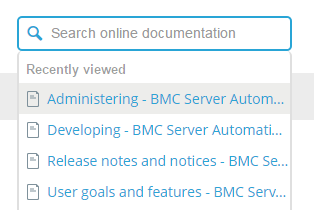 Searching - Documentation for Help for BMC Online Technical