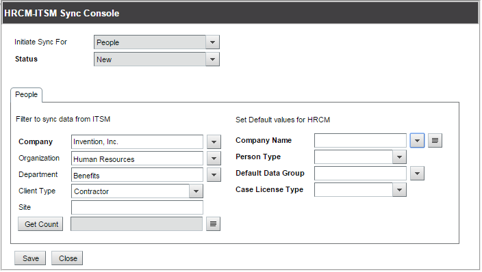 Synchronizing users between BMC HR Case Management and BMC