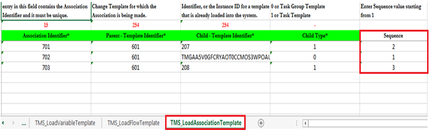 Loading phase and sequence for task and task group templates ...