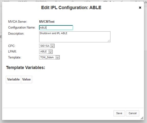 IPL automation configuration - Documentation for MainView