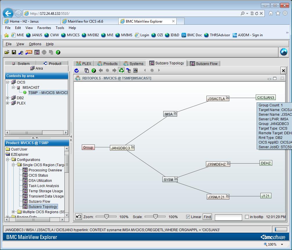 subzero topology container documentation for mainview for cics 6 7 rh docs bmc com