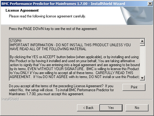 Accepting The Product License Agreement Documentation For