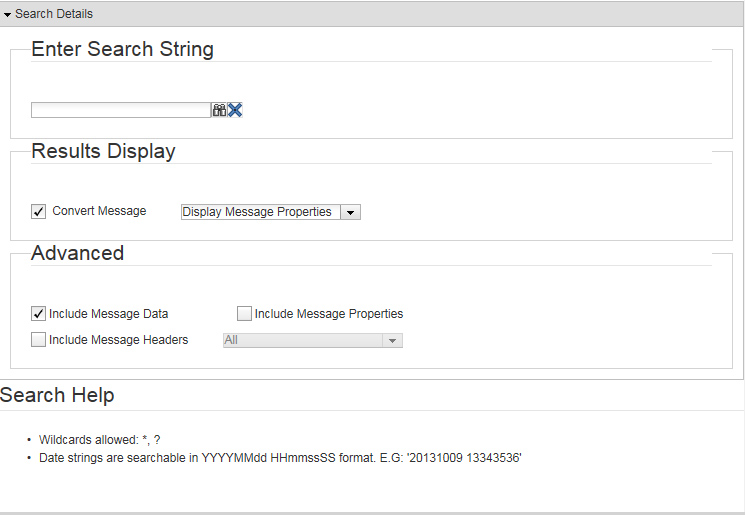Finding messages - Documentation for BMC TrueSight Middleware