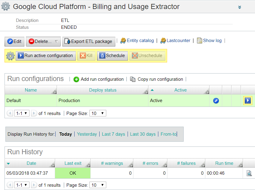 Google Cloud Platform - Billing and Usage Extractor