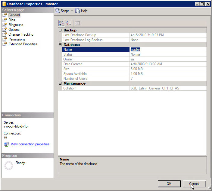 Setting up a SQL Server database and user for TrueSight
