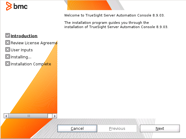 Installing the TrueSight Server Automation Console (Linux